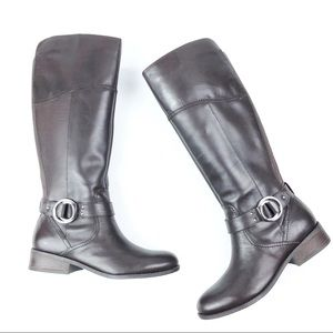 New MARC FISHER Gatway riding boots 9.5 W brown